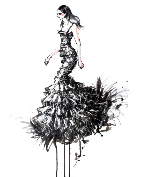 Another Oscar De La Renta piece. Originally all black. Added the sparkles and glitter.