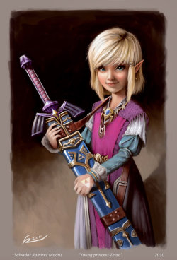 sogeekchic:  Young Princess Zelda (what a cutie!) by ReevolveR via Kotaku