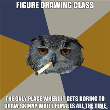 whatisthisidontevenknow:  fyeahartstudentowl:  via Katrina   I WANT TO DRAW FLABS AND WRINKLES  True.