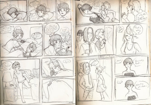 "Some rough pages for a comic project I'm working on. ""Project Flowers"""