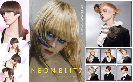 So, I purchased Sassoon's Neon Blitz and Gilded Youth, got myself a great hair model and tried out some of the techniques (see photos on the left). Although I felt like the sectioning could have been displayed more clearly in the DVDs and that  there could have been a little more explanation as to why decisions to  use certain techniques were used on various parts of the head, I did  find the DVDs overall helpful and was able to create this haircut and finished look. She's happy. I'm  happy. I would say that these DVDs are more within the intermediate/advanced range. Neon Blitz was intermediate while Gilded Youth was a little more complicated. A decent knowledge of Sassoon technique is helpful in following the haircuts especially since some sectioning and elevation wasn't completely clear. Thank God for pause and rewind buttons! I think these DVDs are no longer being sold through Sassoon but there are definitely used and new copies still floating around the internet.