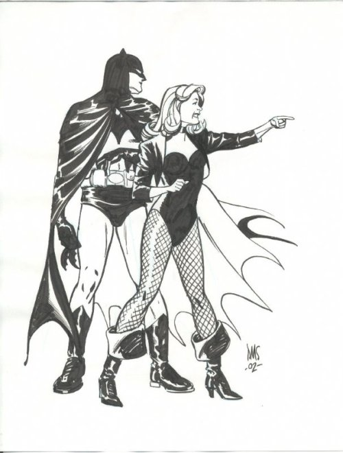 Batman & Black Canary by Paul Smith