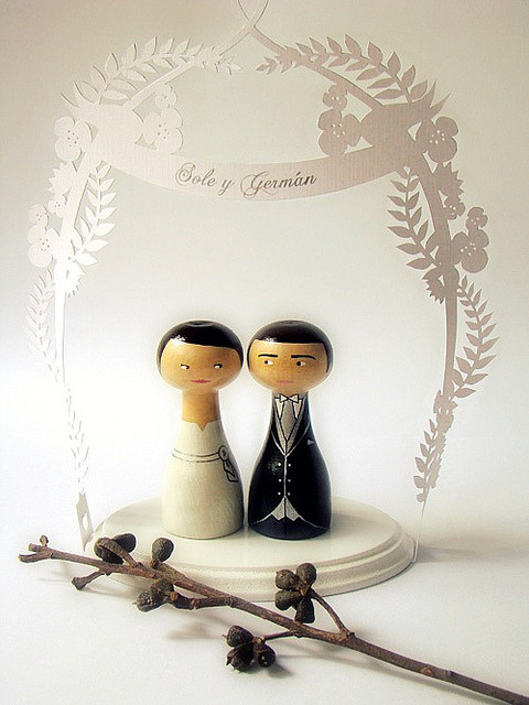 Personalized Wedding Cake Topper N3 (by Zime)