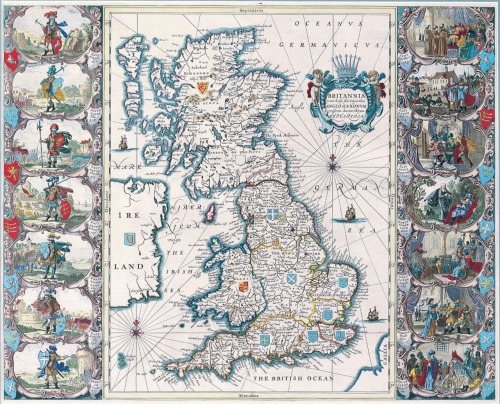 John Speed, 1676, British Isles