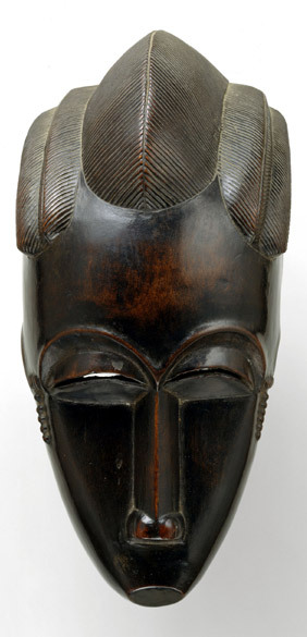 Portrait Mask (Gba gba), Cote  d'Ivoire © Baule peoples, before 1913,  Wood, 26 x 12.4 cm, The Metropolitan Museum of Art, New York, Bequest of  Adrienne Minassian, 1997 (1997.277). archiveafricanicon