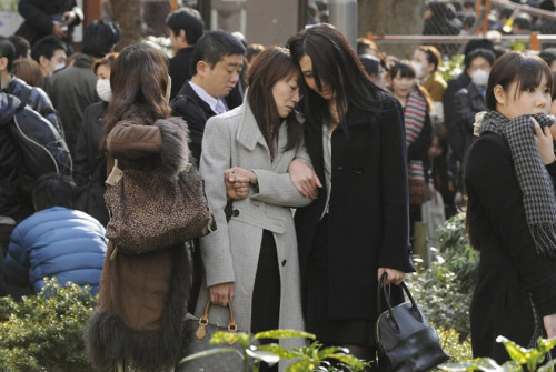 Evacuees stand around Shinjuku Central Park in Tokyo Japan March 11, 2011. A massive 8.9 magnitude quake hit northeast Japan on Friday, causing many injuries, fires and a ten-metre (33-ft) tsunami along parts of the country's coastline. A tsunami warning has been issued for the entire Pacific basin except for the mainland United States and Canada following a huge earthquake that hit Japan on Friday, the Pacific (Reuters)