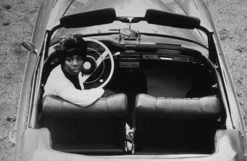 Nina Simone in the driver's seat.