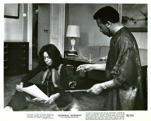 Diana Sands and Roger Furman in a publicity still from the 1972 film, Georgia, Georgia.