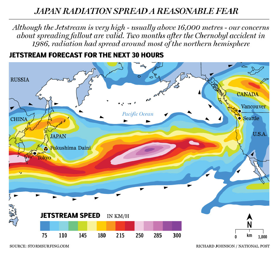 Graphic: Japan radiation spread a reasonable fearRadiation leaked from an earthquake-crippled nuclear plant in Japan on Saturday after a blast blew off the roof, and authorities prepared to distribute iodine to local people to protect them from exposure.