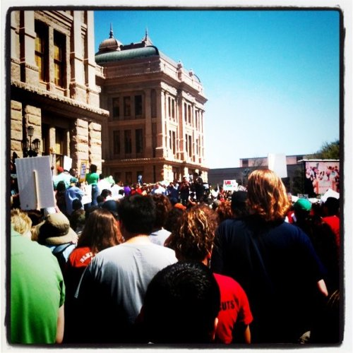 Supporting my sister Monica the school teacher & all Texas teachers @ Save Texas Schools Protest Rally #SXSW #Education (Taken with Instagram at Texas State Capitol)