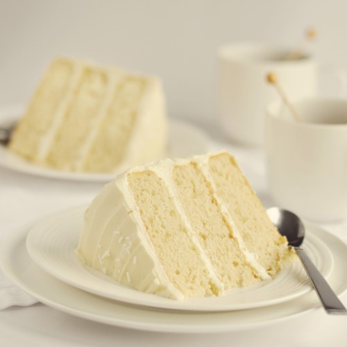 boyfriendreplacement:  BAKED bakery's The Whiteout Cake: Soft vanilla cake filled & frosted with creamy, rich white-chocolate frosting and white sprinkles. Recipe