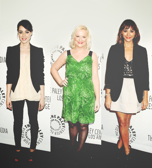 Aubrey Plaza, Amy Poehler and Rashida Jones attend Paleyfest 2011 in Beverly Hills, California (03/09/11)
