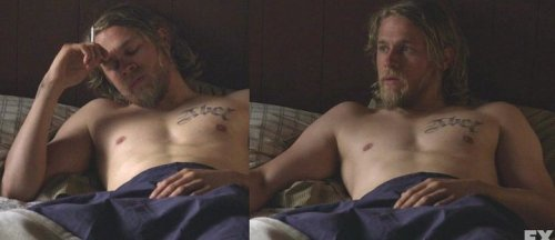 bad bad jax charlie sexy hunnam @facebook My heart sank for Tara