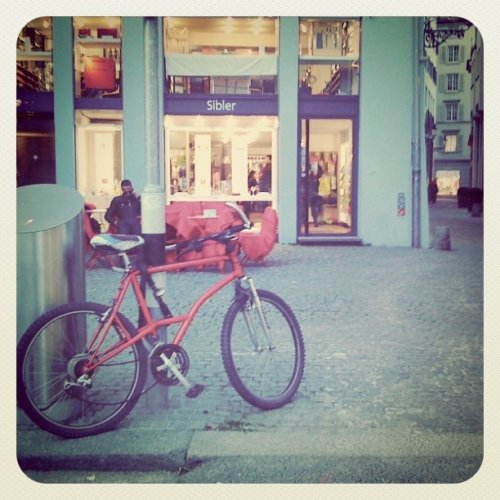 Mr.Red Bike (Taken with Instagram at Zurich)