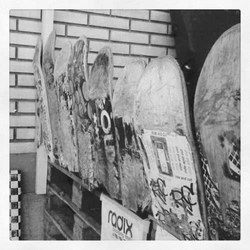 Skate Shop Board Fence (Taken with Instagram at Zurich)