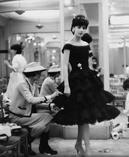 Mademoiselle AT WORK  Coco Chanel and her little black dress creation 1959