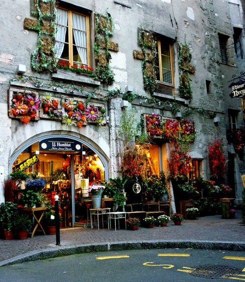 aworldofwhatever:  Flower shop in Annecy, France.