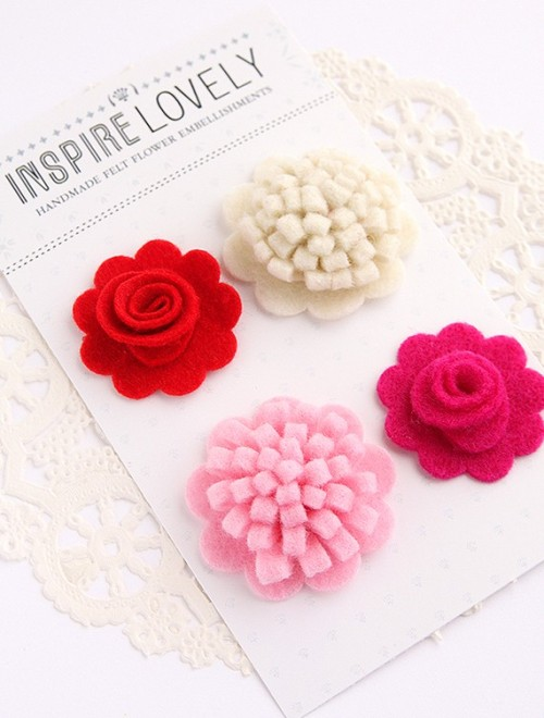 Aren't these just amazing? Inspire Lovely has all sorts of fun craft supplies like these felt flower embellishments in their shop…check it out!