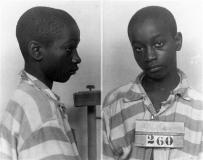 "He was 14 yrs. 6mos. and 5 days old —- and the youngest person executed in the United States in the 20th Century. George Junius Stinney, Jr., [b. 1929 - d. 1944] In a South Carolina prison sixty-six years ago, guards walked a 14-year-old boy, bible tucked under his arm, to the electric chair. At 5' 1"" and 95 pounds, the straps didn't fit, and an electrode was too big for his leg. The switch was pulled and the adult sized death mask fell from George Stinney's face. Tears streamed from his eyes. Witnesses recoiled in horror as they watched the youngest person executed in the United States in the past century die. Now, a community activist is fighting to clear Stinney's name, saying the young boy couldn't have killed two girls. George Frierson, a school board member and textile inspector, believes Stinney's confession was coerced, and that his execution was just another injustice blacks suffered in Southern courtrooms in the first half of the 1900s."