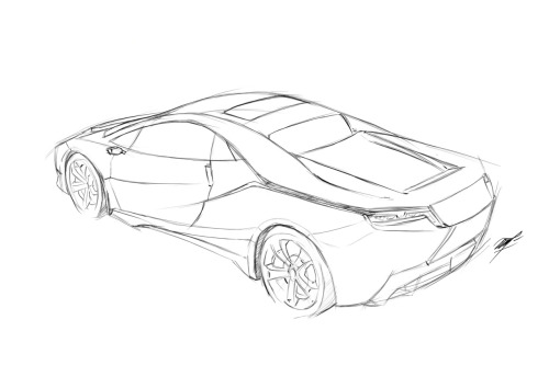 Morning Doodling - Car (sketch)