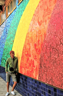 'Rosario' My friend Rosario kickin' it by a rainbow on Haight and Ashbury. Enjoy.