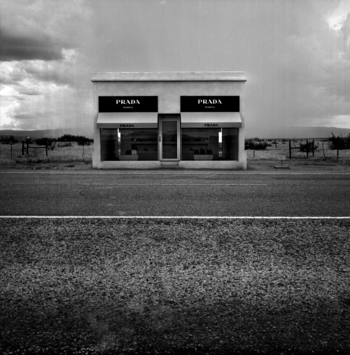 Marfa Prada. This permanent installation by two Berlin-based artists is in Texas (it's marvelous, no?). I kind of I want to be in Texas at SXSW right now even though I am having a splendid road trip. I should stop checking Facebook/Twitter/Foursquare/Tumblr/Everything because it seems as everyone I know is in Austin.