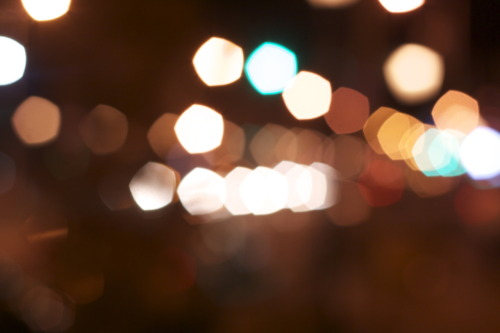 kennedyjf:  71/365. Pentagon Bokeh? Kind of cool. Took this while out with a friend. I suppose that the 50mm lens is going to produce a different type of bokeh than my 18-55mm? I'm just guessing that, I don't know how these things work (yet).  I just happened upon this after reading up on lenses and bokeh, and I figured I'd share my super-non-expert knowledge even if I am a random Tumblr stranger: I bet this was taken with something like a Canon EF 50mm f/1.8, which has 5 non-rounded blades in the aperture diaphragm. That kind of 5-blade setup tends to produce pentagons. (Pretty logical, I guess.)  And if it's the Canon 18-55 kit lens, it has 6 rounded blades, I believe. So yeah, you shouldn't see anything like this with that lens, just the usual circle-ish stuff (and some subtle rounded hexagonal things).  I think super-serious photographers don't want a lens that gives this kind of odd bokeh effect, from what I've read, but I think it's kind of neat. (Plus that 50mm 1.8 is really pretty excellent for ~$120 new, making it Canon's cheapest EF lens, so it's hard to complain about it!)