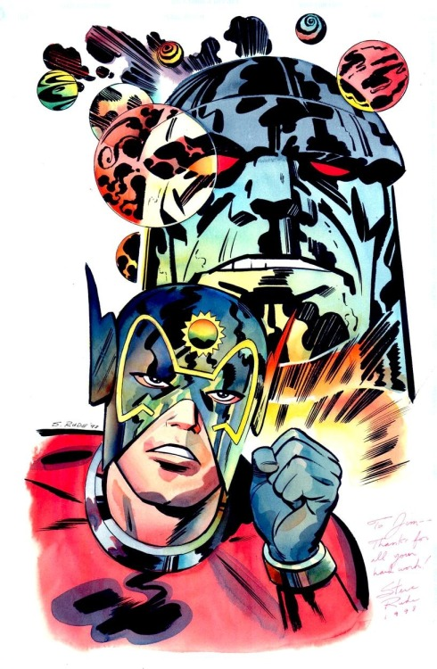 derekcharm:  Orion and Darkseid by Steve Rude