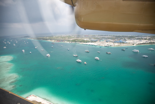 Male' Airport island, Maldives, as seen from a De Havilland Twin Otter seaplane
