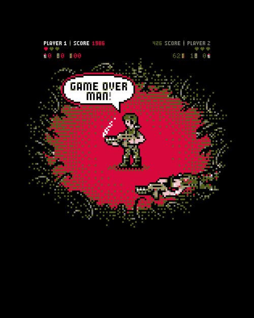 "desperategeek:  ""Game Over"" by Barn Bocock aka HtCRU up for votes at Qwertee"