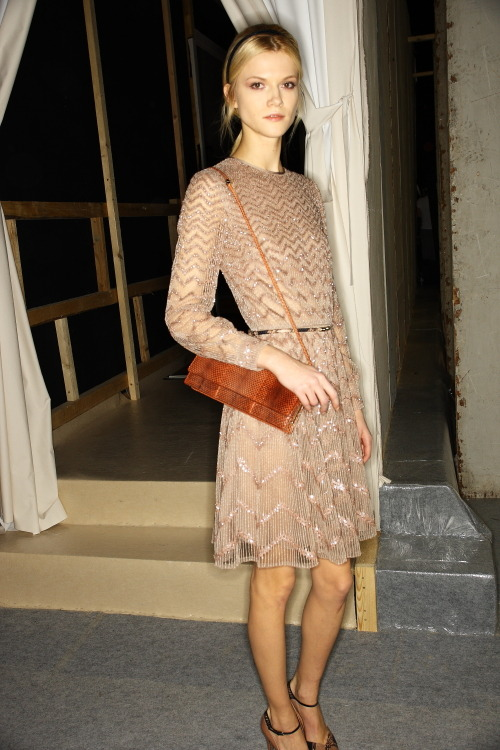 Kasia Struss at Valentino FW 2011 RTW backstage