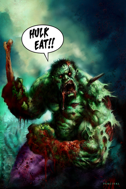 Zombie Hulk by Nick Percival.
