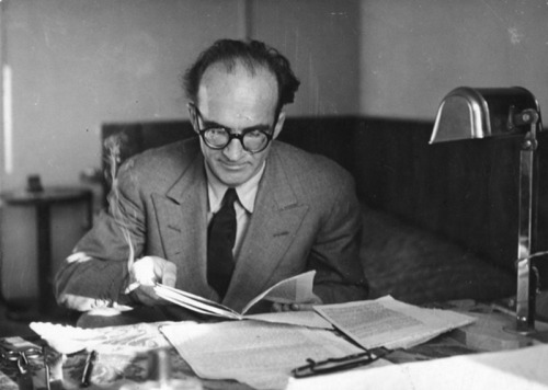 parabola-magazine:  Mircea Eliade (March 13, 1907 – 1986) was a Romanian historian of  religion, fiction writer, philosopher, and professor at the University  of Chicago. He was a leading interpreter of religious experience, who  established paradigms in religious studies that persist to this day. Eliade spent years in India (learning Sanskrit and studying Yoga practices - the topic of his PhD thesis… As long as you have not grasped that you have to die to grow, you are a troubled guest on the dark earth — M.E. Thank you, i12bent.