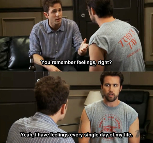 Alway Sunny - You remember feelings, right? - S6E1 Captured Captions