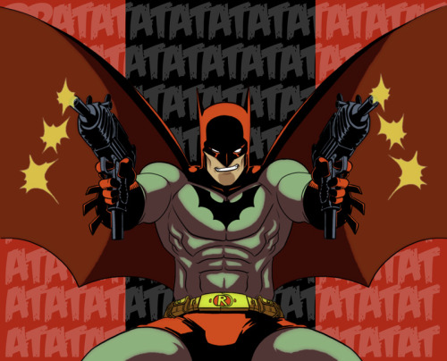 Jason Todd as Red Hood/Batman by AmericanNinjaX  It's a pretty good mashup if you ask me.