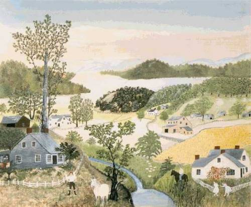 1948 Anna Mary Robertson [Grandma Moses] (American 1860-1961) ~ Beautiful World