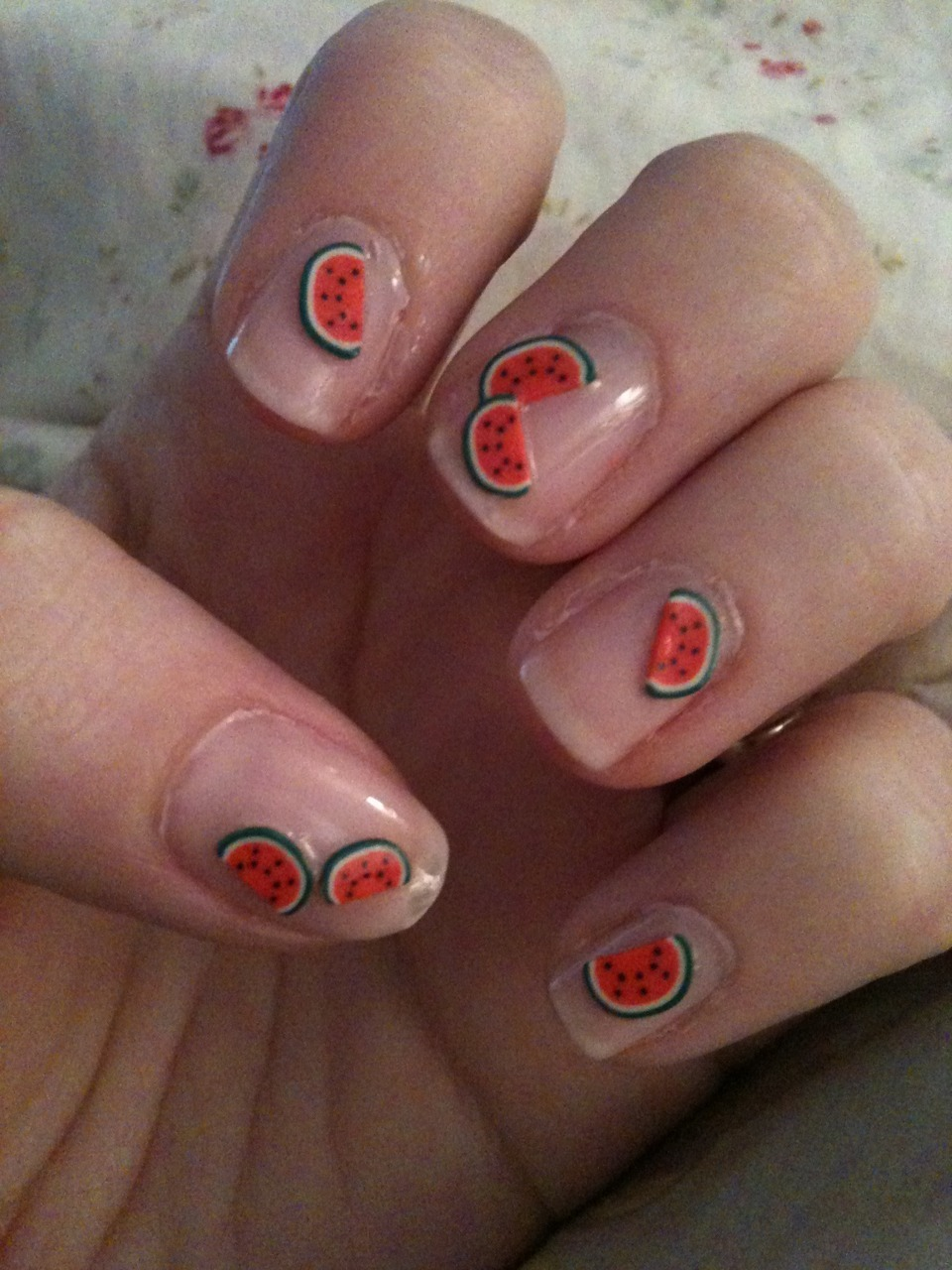 Watermelon Nails, style #2