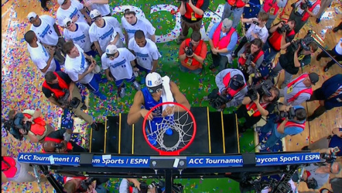 ACC Tourney Champs  			Duke, Cuts Down the Nets  - jose3030