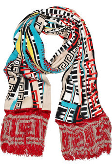 from Versace's spring 2011 RTW - LOVED the whole show. This scarf is the perfect representation of the whole collection. Want.