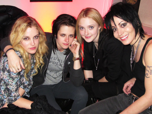 Someone asked for me to post another photo of Kristen Stewart and Joan Jett. Here you go! I took this one a Sundance 2010. There's nothing that I wouldn't do for my tumblr fans.  Photo by Brad Elterman