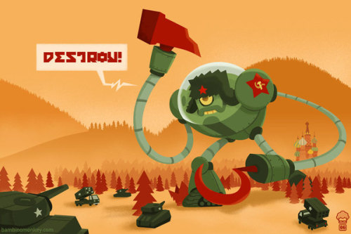 Destroy…Another cool illus­tra­tion by Maroto bambinomonkey..!