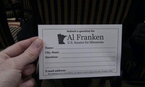 "C'mon, Twitter. Questions for Mr Franken, the US senator who described the net neutrality debate as ""the most important free speech issue of our time"".."