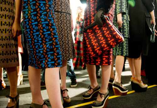 vogue:  Backstage at Marni Photographed by Evan Sung