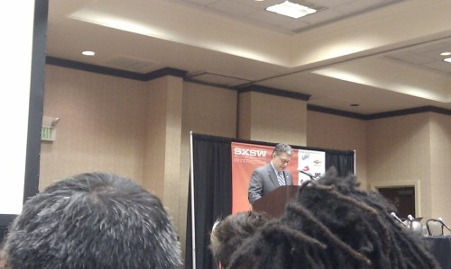 Al Franken begins net neutrality address at SXSW.