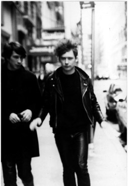 Bobby Gillespie and Jim Reid / The Jesus and Mary Chain / New York City / 1985 / Photo by William Reid