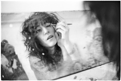 """flavorpill:  Patti Smith when she was """"just a kid"""". See more at Flavorwire.  """"He would be a smothering cloak, a velvet petal. It was not the thought  but the shape of the thought that tormented him. It suspended above him,  then mutely dropped, causing his heart to pound so hard, so  irregularly, that his skin vibrated and he felt as if he were beneath a  lurid mask, sensual yet suffocating. """"I thought I would be with him when he died, but I was not. I followed  the stages of his passage until close to eleven, when I heard him for  the last time, breathing with such force that it obscured the voice of  his brother on the phone. For some reason, this sound filled me with a  strange happiness as I climbed the stairs to go to sleep. He is still  alive, I was thinking. He is still alive."""" — Patti Smith, Just Kids"""