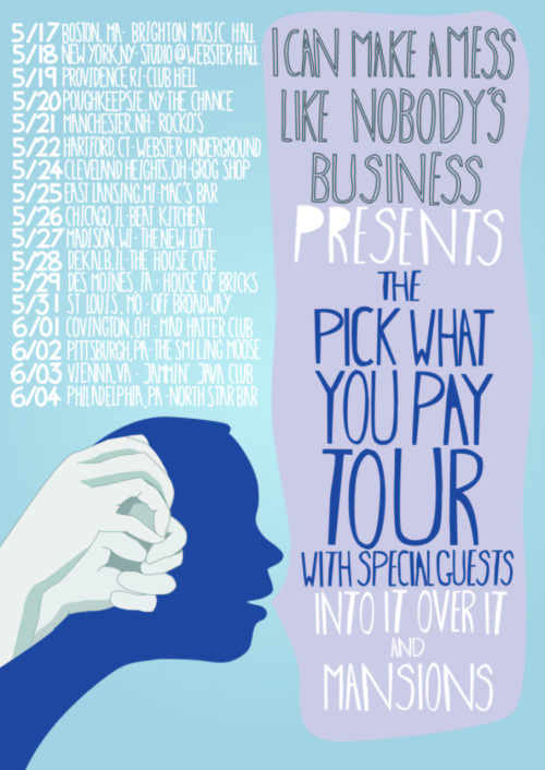 Tickets for the Pick What You Pay Tour on sale TOMORROW! Help us spread the word..if this little experiment goes well we hope to make it to the rest of the country soon!Pre-sale tickets will be available through Artist Arena on Tuesday March 15.  Each advanced purchase ticket will come with a limited edition signed poster and admission to a discussion session about the future of music with the band that will be filmed and included in a documentary to be released this coming fall.  5/17 – Allston, MA – Brighton Music Hall5/18 – New York, NY – Studio @ Webster Hall5/19 – Providence, RI – Club Hell5/20 – Poughkeepsie, NY – The Chance5/21 – Manchester, NH – Rockos5/22 – Hartford, CT – Webster Underground5/24 – Cleveland, OH – Grog Shop5/25 – Lansing, MI – Mac's Bar5/26 – Chicago, IL – Beat Kitchen5/27 – Madison, WI – The Loft5/28 – DeKalb, IL – The House Café5/29 – Des Moines, IA – House of Bricks5/31 – St. Louis,  MO – Off Broadway6/1 – Covington, KY – Mad Hatter6/2 – Pittsburgh, PA – The Smiling Moose6/3 – Vienna, VA – Jammin Java6/4 – Philadelphia, PA – Northstar Bar