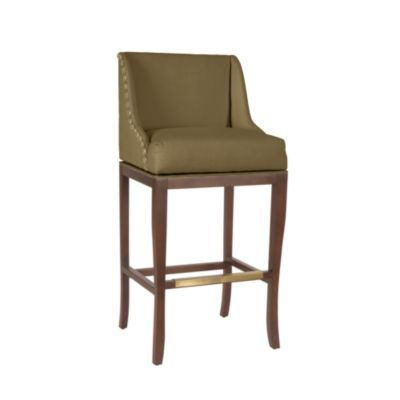 The winning barstool. A nice swivel seat with nailhead detail done in a sturdy Sunbrella fabric. I wanted these in leather, but there was no way that fit into the budget. There will be three. Unfortunately, they won't be here until Memorial Day!