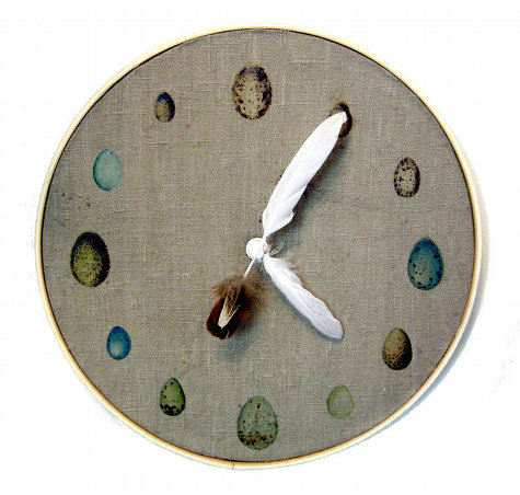 Ornithology Clock Isn't this beautiful? I have had this on my To Do list for a while now. p.s. Ornithology is a branch of zoology that concerns the study of birds. :] The more you know! *Rainbow* Found at: www.designspongeonline.com
