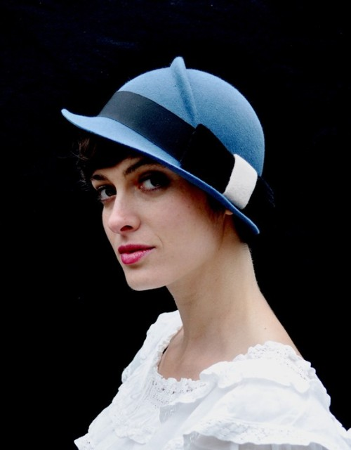 Finding a bona fide millinery shop on Etsy is about as easy as finding a needle in a haystack.  And keep in mind that when I refer to bona fide millinery, I mean a custom-made, hand-blocked hat… not some cheap Hobby Lobby fedora that someone glued flowers to, or the omnipresent slouchy knitted beret. So I almost cried when I stumbled across this fabulous, fabulous hat shop and their amazing creations!
